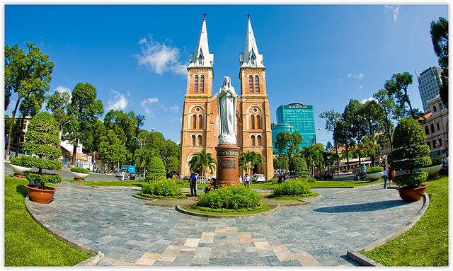 Nhà Thờ Đức Bà - Công viên 30/4 - Bưu điện Sài Gòn